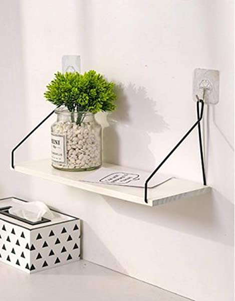 RKDStoreUnlimited Attractive And Sleek Wall Mounted Floating Shelves Set Of 3 Display Ledge Storage Rack For Bedroom Bathroom Living Room Office And More White