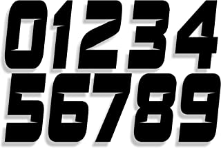 Mx & ATV Number Plate Decals | Set of 3 Decals With Your Custom Number & Color Choice | Sliced Font Style 9