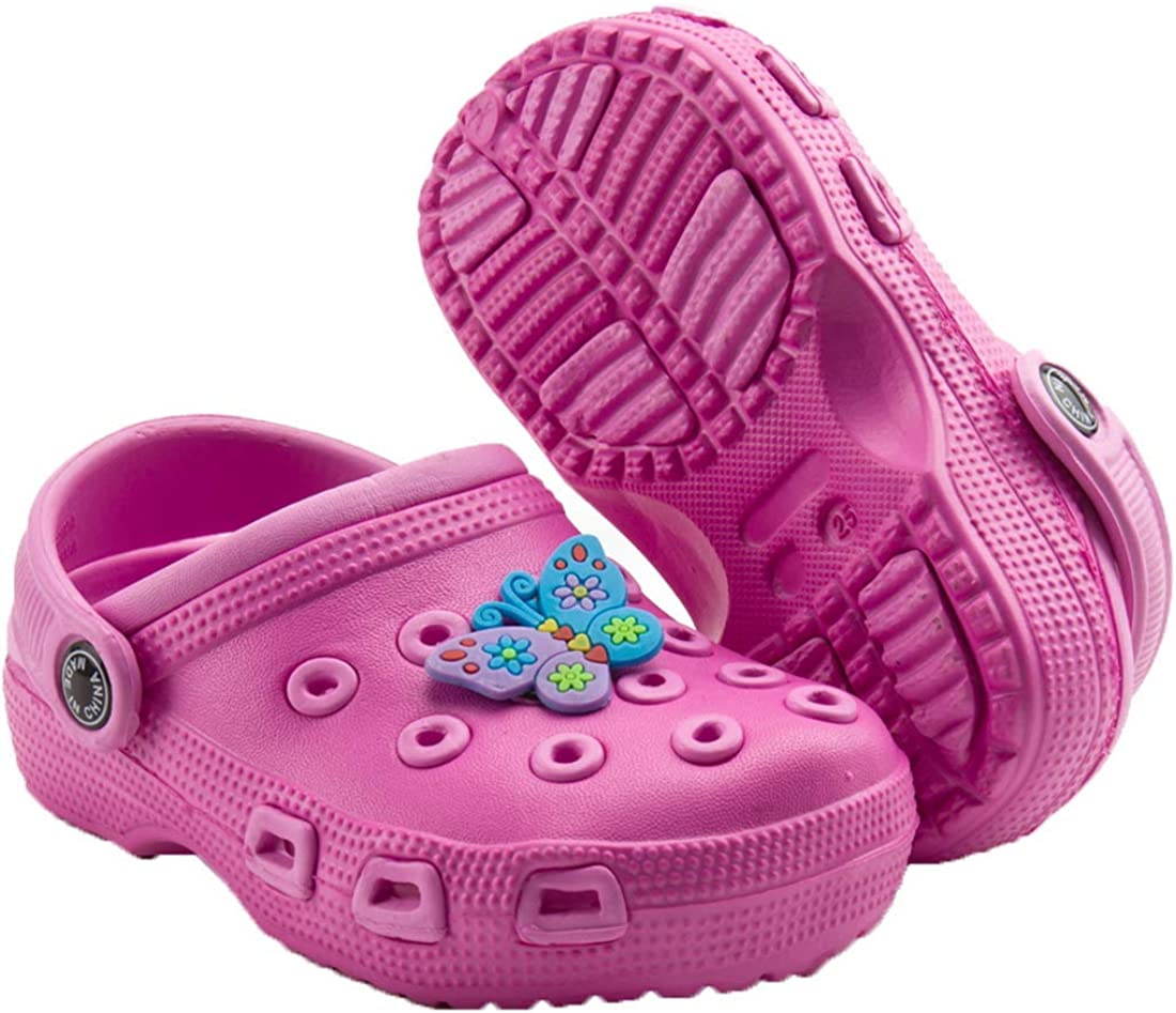 Babelvit Toddler Kids Boys Girls Cute Garden Clogs Water Sandals Slip On Shoes Slides Light Summer Children Beach Pool Play Slipper (Toddler/Little Kids)