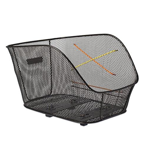 Basil Unisex– Erwachsene Icon M Fahrradkorb, Black, 40 cm x 33 cm x 25 cm