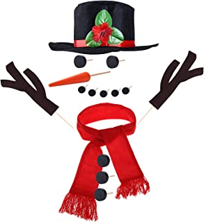 TOYMYTOY Snowman Kit, Snowman Decorating Kit 15Pcs Snowman Making Kit Winter Party Kids Outdoor Toys Decoration Christmas Holiday Decoration Gift