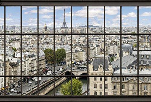 PARIS LA SEINE 4x2,70m panorama fotobehang fotobehang panorama wandafbeelding XXL kwaliteit HD Scenolia
