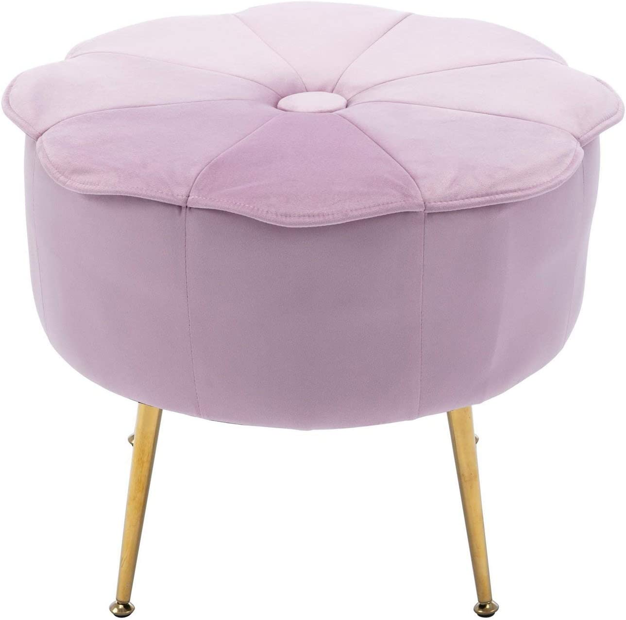 HNY Round Small Pouf Complete Free Shipping Ottoman Stool OFFicial Tufted R Velvet Foot Ottomans