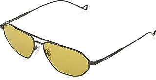 Emporio Armani - Gafas de Sol Emporio Armani EA 2113 Matte Ruthenium/Yellow 58/15/140 hombre