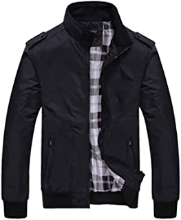 Mens Jackets Spring Autumn Casual Coats Solid Color Mens Sportswear