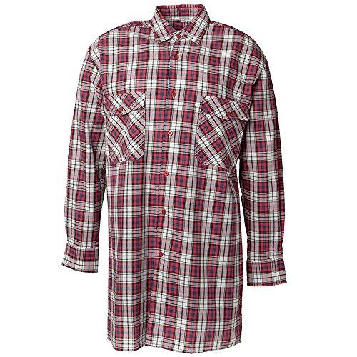 Planam Größe 43/44 Herren Hemden Flanellhemd 2001 rot Modell 0451
