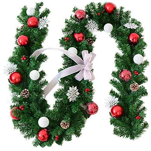 NCBH Boog Kerst Wijnstok 106In Sneeuwvlok Deur Opknoping Diy Geschikt voor Binnen Hout Kast Raam Decoratie Hanger