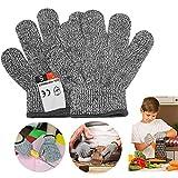 Guantes Anticorte para niños, Guantes de Cocina Seguridad Nivel 5 Protección, Guantes Resistentes a Cortes para Cocina, Exterior, Explorar (XS(8-12 años))