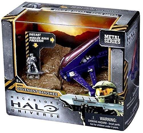 Mega Bloks Halo Metal Series Diecast Banshee Pacto