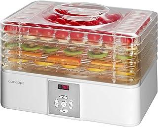 CONCEPT Hausgeräte SO1001 Food dehydrator Digital Concept Déshydrateur numérique Blanc, 200-240 W, 5 Assiettes Transparent...