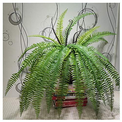KAERMA 15 bladeren laat zachte grote Perzische struik kunstmatige varen plastic groene plant nep bloem plant ideaal voor binnen en buiten thuis tuin kantoor tafel balkon decoratie Home decoratie plant toegang