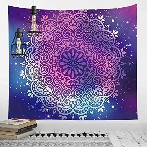 Tapiz de loto montado en la pared decoración del hogar mandala chakra tapiz hippie tapiz psicodélico tela de fondo A2 150X200CM
