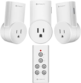 Etekcity Remote Control Outlet Wireless Light Switch for Household Appliances, Plug and..