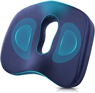 Winjoy Seat Cushion, 100% Memory Foam Chair Pad. Orthopedically Designed for Sciatica/Coccyx/Tailbone, Lower Back Pain Relief. Ideal for Home/Office Chair/Wheelchair/Car