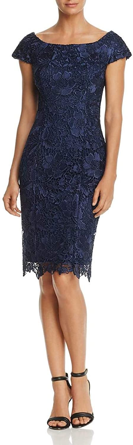 JS Collections Womens Lace Embroidered Party Dress