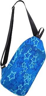 Crossbody Sling Backpack Star Blue Chest Shoulder Bags Multipurpose for Men/Women