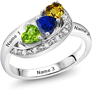 Best personalized heart birthstone ring Reviews