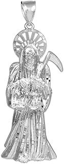 925 Sterling Silver Santa Muerte (Grim Reaper) Pendant