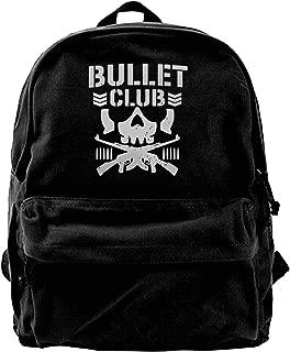 WUHONZS Canvas Backpack New Bullet Club UFC Fight Japan Wrestling Rucksack Gym Hiking Laptop Shoulder Bag Daypack for Men Women