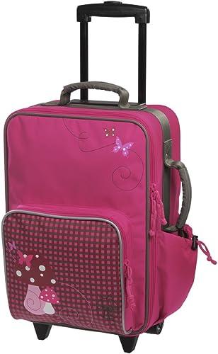 Lässig Valise à Roulettes Mushroom magenta -bagage multifonctionnel pour enfants, grand compartiment intérieur isolé