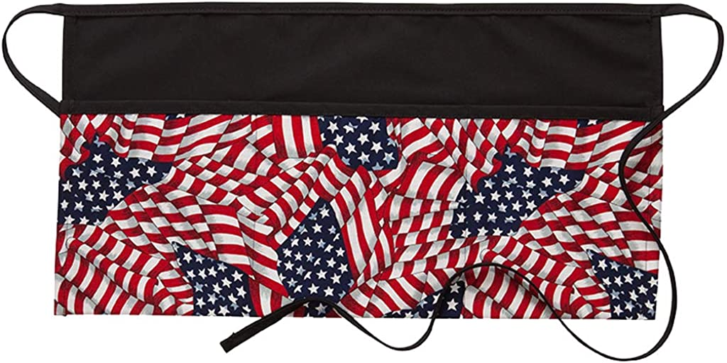 DayStar Apparel FG100 American Flag Three Max 60% OFF Waist Apron A surprise price is realized Pocket