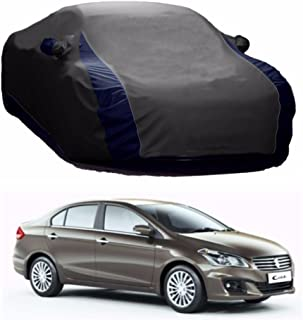 MotRoX Lively Water Resistant Car Body Cover for Maruti Suzuki Ciaz (Grey & Blue - V Shape)