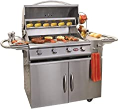 Cal Flame G4 4 Burner Natural Gas Grill On Cart (ships As Propane With Conversion Fittings)