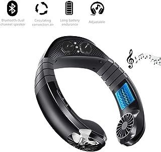 GHmarine Ventilador de aire acondicionado, carga USB, portátil, Bluetooth, manos libres, para colgar música para el hogar, al aire libre, interior