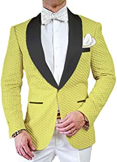 d545815d3 Premium Jacquard Paisley Floral Pattern Slim Fit Tuxedo Prom Wedding Groom  Single Breasted Blazer Suits