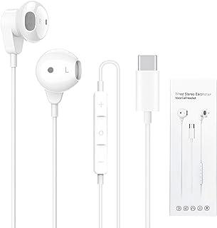 Auricolari USB C, In-Ear USB Tipo C Cuffie con Microfono, HiFi stereo Tipo C Earphones Headphones con Cavo e Controllo Compatibili con Huawei P40/Mate40, Pad Pro, Google Pixel 4XL, Samsung S20