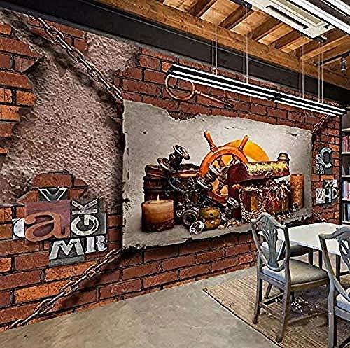 3D behang Jhpingmural muur foto muurschildering kamer rijkdom schat woonkamer muur 3D behang 200 x 140 cm.