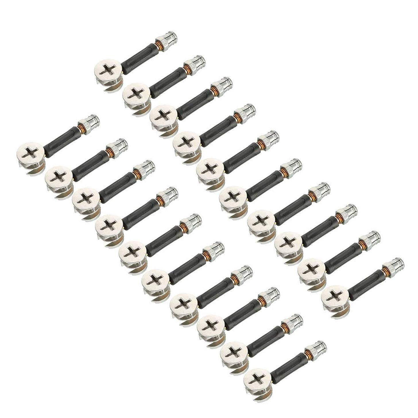 区別修正思慮のないuxcell 家具接続継手 家具カム継手 ジョイントコネクタ 外径15mm ダウエルプレ挿入ナット 20セット