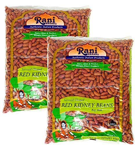Rani Red Kidney Beans, Light 4lbs Pack of 2, 8lbs (128oz) Total ~ Bulk All Natural | Vegan | Gluten Friendly | NON-GMO | Raj Mah