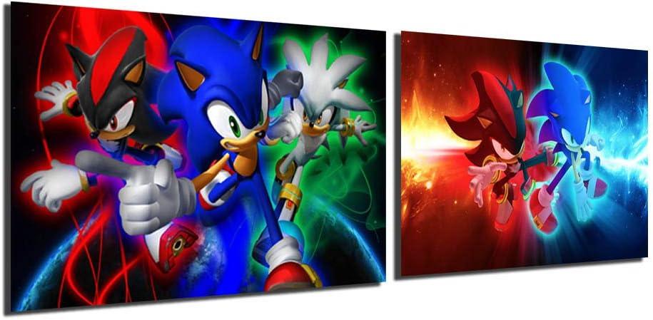 FireDeer Sonic Hedgehog お買い得品 And Shadow Anime Poster 2 Pieces 数量限定アウトレット最安価格 Cartoon