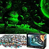 Jigsaw Puzzles 1000 Pieces for Adults Fluorescent Puzzle Glow in The Dark Space Traveler Puzzles for Adults 1000 Piece Puzzle & Educational Games,Toys Gift for Adults Teens