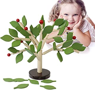 Licogel Kids Building Block Set Wood Tree Shape Funny Educational Toy Developmental Training Logical Stem Students