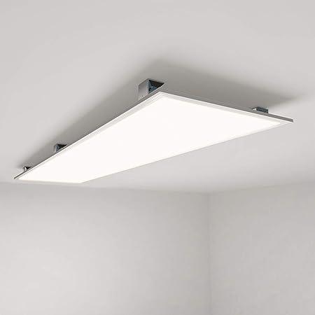 LED Panel 120x30 cm mit Rahmen Anbauleuchte 28W Deckenlampe ultraslim 4000K