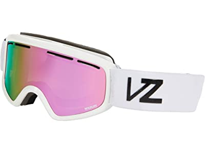 VonZipper Trike Goggle (White Gloss/Wildlife Pink Chrome Lense) Goggles