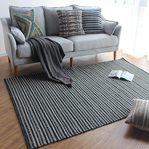 GRENSS Im barocken Stil rein handgemachte Teppiche Wollteppiche anmutige Gestreifte Matten für Wohnzimmer/Schlafzimmer/Sanctum Sinn für Kunst Teppiche
