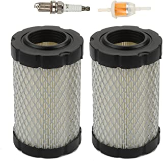 Harbot (Pack of 2 Air Filter with Fuel Filter for John Deere MIU14395 D100 D105 D110 D130 Z225 Z235 Z255 X124 L105 L107 E100 E120 E130 Husqvarna YTA22V46 YTH22V46 YTH24V48 HU800awd Lawn Mower Tractor