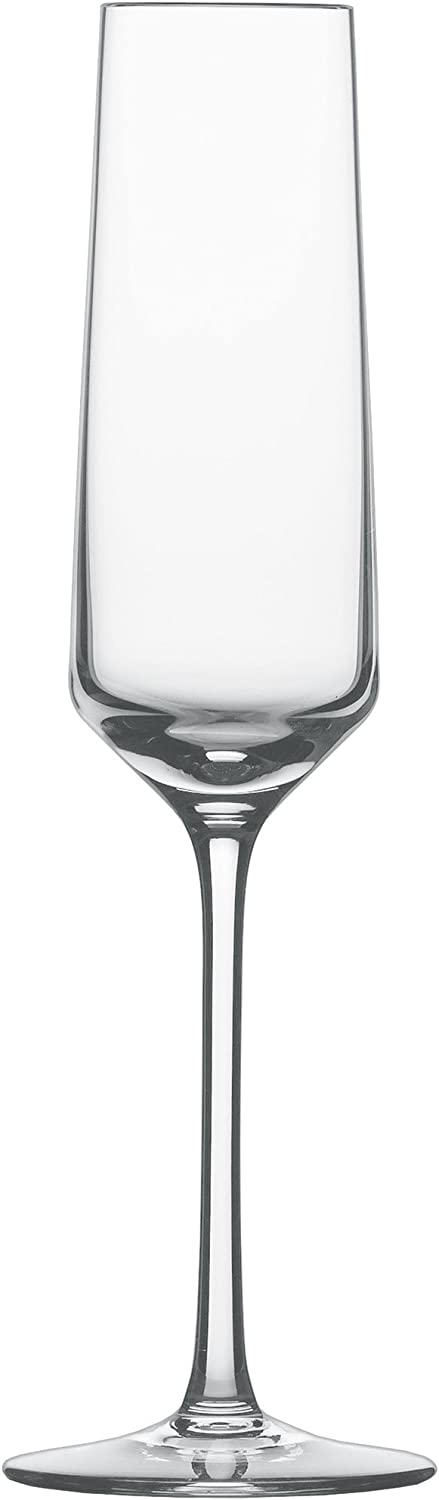 Schott Zwiesel Tritan Crystal Glass Pure Stemware Collection Champagne Flute with Effervescence Points, 7.1-Ounce, Set of 6
