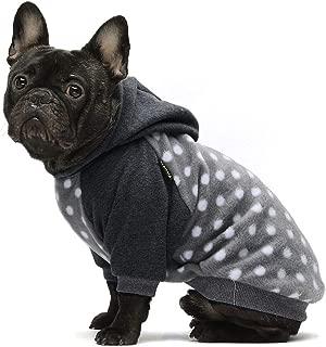 Fitwarm Polka Dot Pet Clothes Dog Hoodie Sweatshirts Pullover Cat Jackets Fleece Grey
