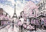 Welt-der-Träume Fototapete Tapete Wandbild Paris | P4 (254cm. x 184cm.) | Photo Wallpaper Mural 11470P4-MS | Stadt Paris Gemälde Frankreich Kunst Eiffelturm