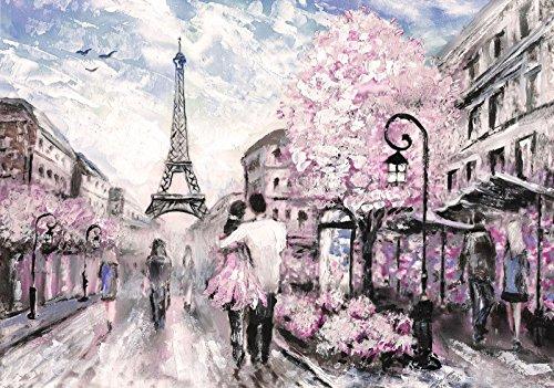 DekoShop Laminierte Fototapete Vlies Tapete Abwaschbar Moderne Wanddeko Wandtapete Dekoration Paris AMD11470MLV4 MLV4 (254cm. x 184cm.)