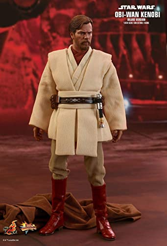 Hot Toys Star Wars  Episode III  Revenge of The Sith Obi-Wan Kenobi (Deluxe Version) 1 6 Scale Movie Collectible Figure