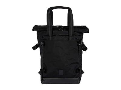Chrome Lako Three-Way Tote (Black Chrome) Bags