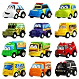 YeoNational&Toys Coches de Cuerda, Surtido DE 12 Mini Vehículos de...