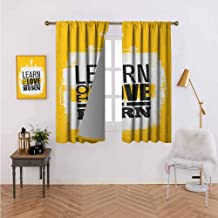 Mannwarehouse Fitness Blackout Draperies/Drapes for Window My Body in Under Construction Hand Drawn Text Sports Healthy Living Icons Window Drapes for Bedroom Grommet Topfor Kid's Bedroom 55
