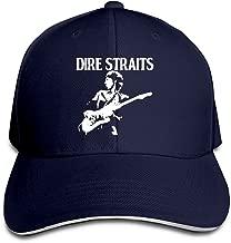 UrsulaA Adult Dire Straits Adjustable Baseball Sanpback Cap Hat Black