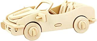 PONTE COLLECTION Wooden Model Kits 3D Puzzles Build Car Kit Wooden Model Toy Kit Wood Puzzle Car Wooden Model Toy Kit Model Car 29-pcs (Racing Car)